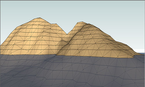 Modeling Terrain and Other Rounded Shapes