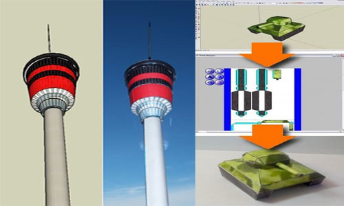 Waybe: to build with SketchUp models