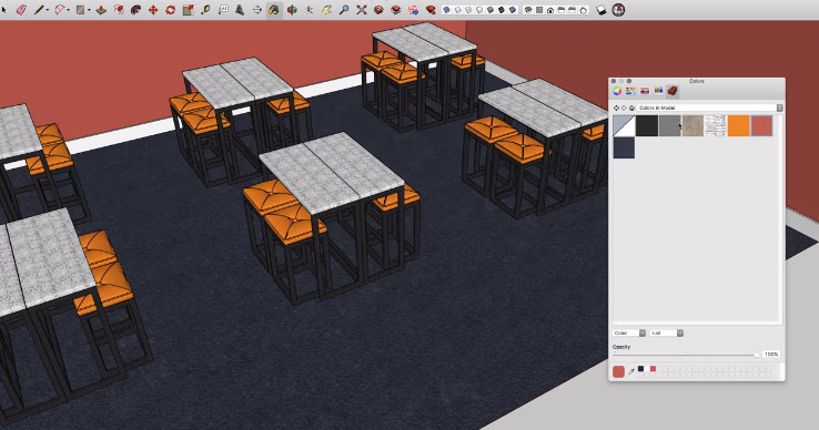 Effecting a Serpentine shaped drawer in SketchUp