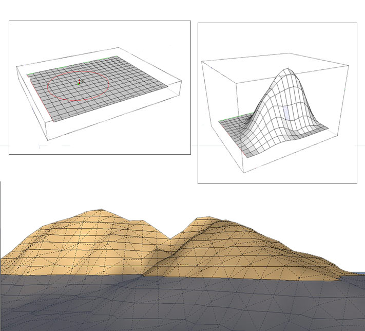 Methods to model Terrain and Other Rounded Shapes