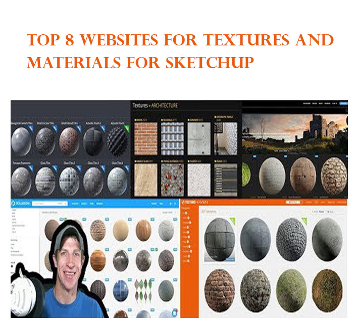 Top 8 Websites for Textures and Materials for SketchUp