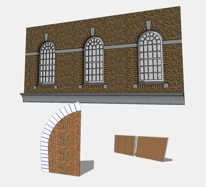Texturing an Arch in SketchUp using ThruPaint