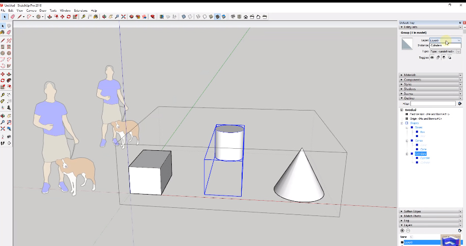 The most underused SketchUp Tip: Outliner Tool