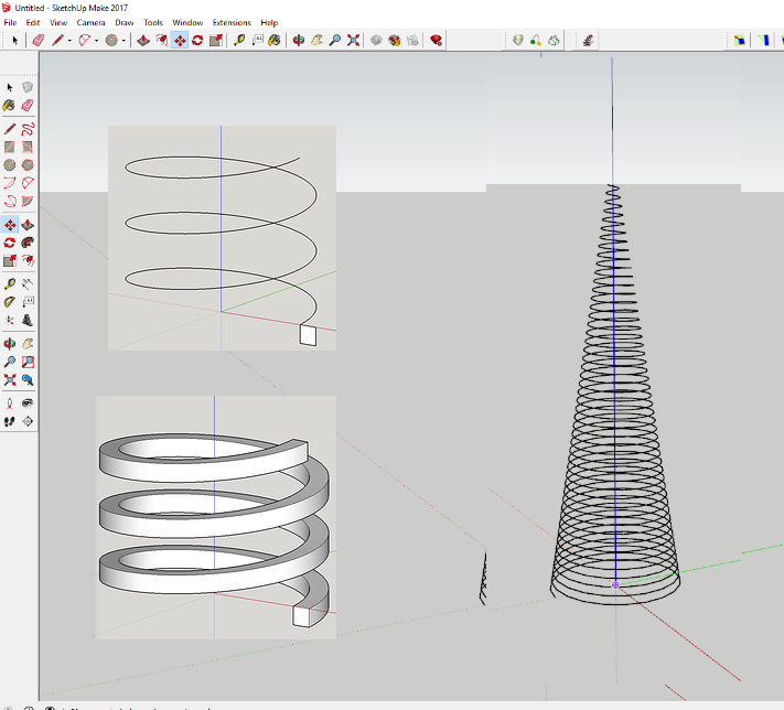 Helix Along Curve Plugin for SketchUp