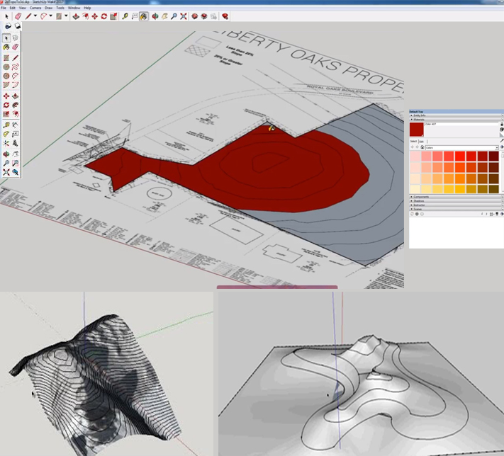 Turning 2D Typography or a Survey to 3D Terrain in SketchUp