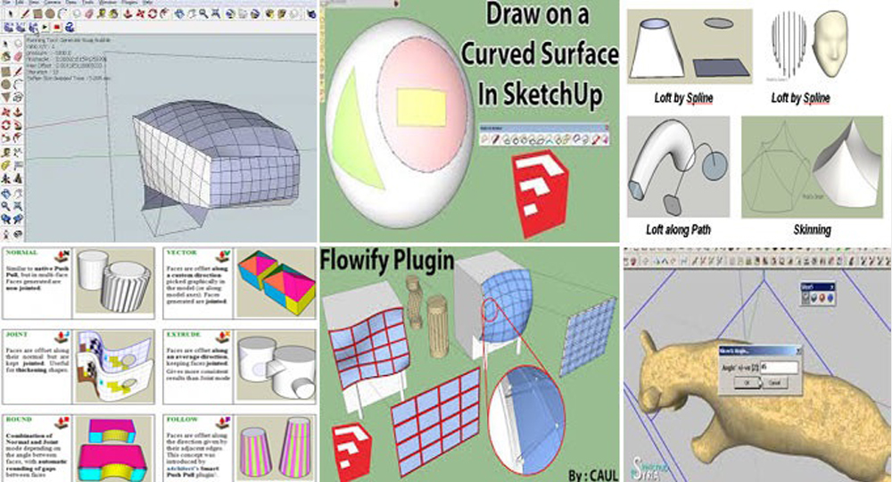 Four SketchUp Plugins to Create Custom Detail Objects Easily