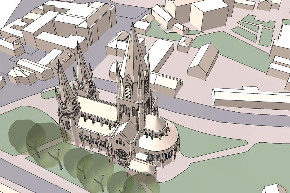 Modeling a Real City in 3D with SketchUp