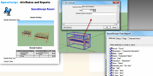 sketchup ur space: Attributes and Reporting in SketchUp