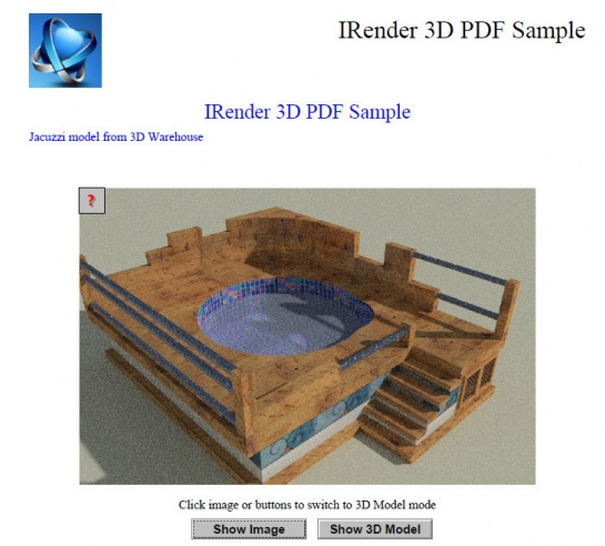 PDF file with Rendered Image visible