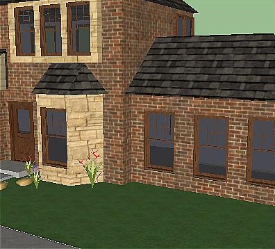 SketchUp model with a Sharpening filter applied