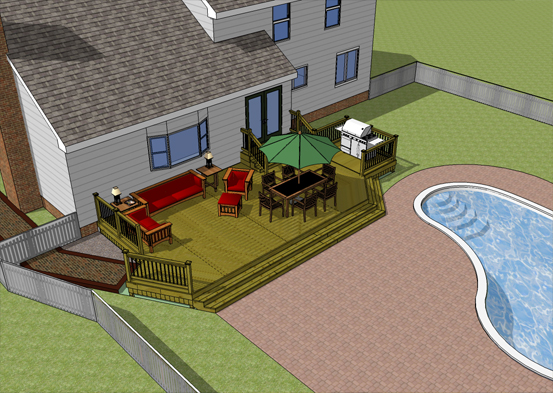 Backyard scaping february 2015 for Pool design sketchup