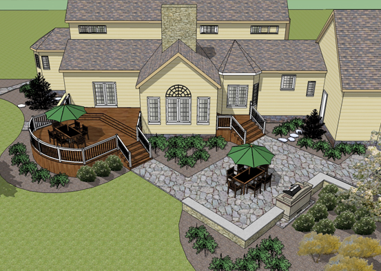 Central PA Deck Design and SketchUP by John Clemons
