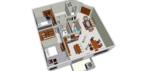 Sketchup ur space tips to draw the floor plan for How to design a floor plan in sketchup