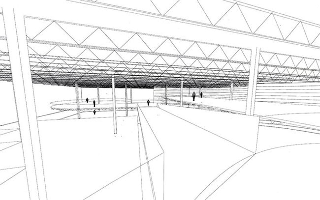 Sketchup Ur Space Drawing A Sports Concept Store Interior