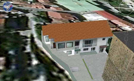 Presentation of object in 3D on website  using Google Earth Plug-in and two ways of  presenting  inside of object  using photo 360
