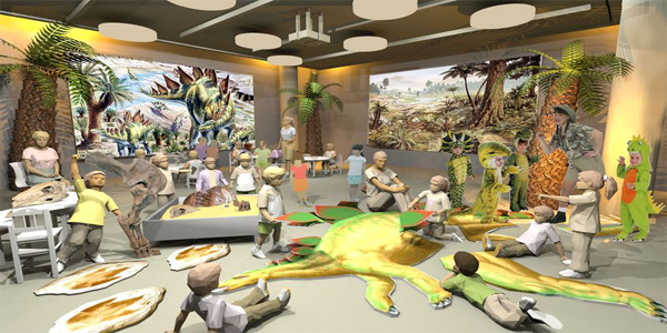 Sketchup Digital Watercolor For A Museum Classroom